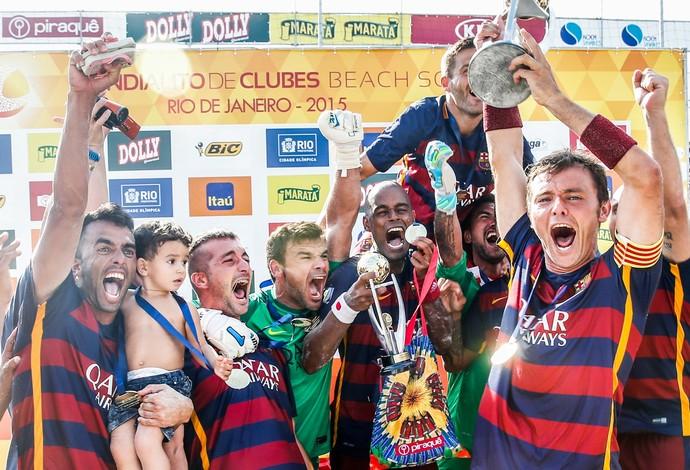 Barcelona conquista o título mundial após vitória, de virada, sobre o Vasco (Foto: beachsoccer.com/Marcello Zambrana)
