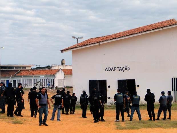 Detento foi morto dentro da Ala de Adaptação de Alcaçuz, que já foi cenário de rebeliões e outros assassinatos (Foto: Ricardo Araújo/G1)