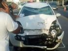 Motociclista fica ferido em acidente com carro em Camaragibe