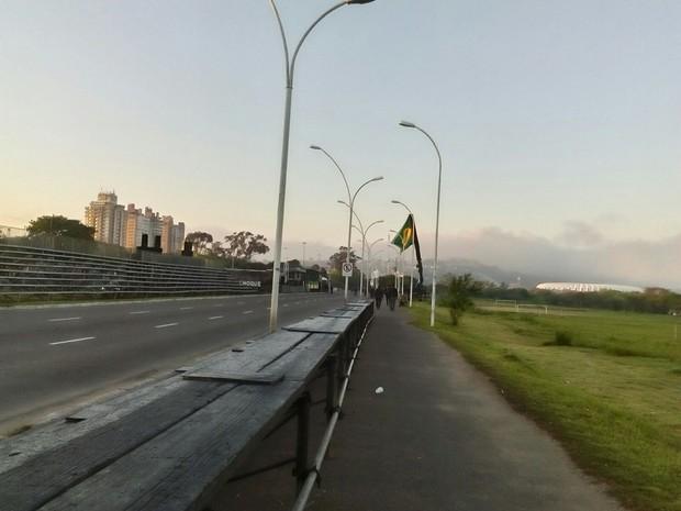 Preparativos para o desfile de 7 de Setembro em Porto Alegre (Foto: Dayanne Rodrigues/RBS TV)