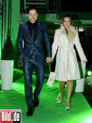 Diego e a mulher Bruna Leticia (Foto: Reprodução/Bild)