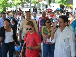 Greve Educação Acre 2 (Foto: Veriana Ribeiro / G1)
