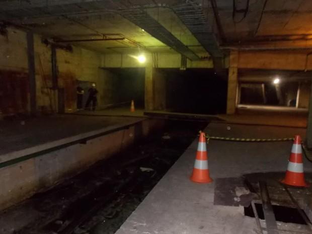 Estação fantasma do Metrô no Centro do Rio (Foto: Divulgação/Luis Henrique Barroso)