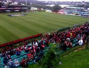 Atlético-PR x Londrina, pelo Campeonato paranaense, no Ecoestádio Janguito (Foto: Fernando Freire)
