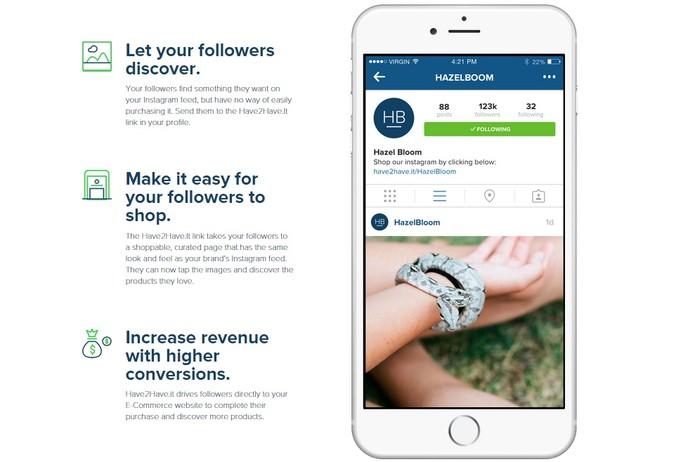 Have2Have.It facilita a compra no Instagram criando links personalizados (Foto: Reprodução/Soldsie)