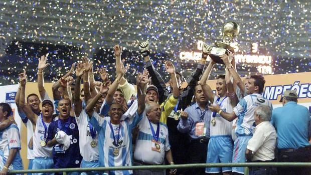 Maior conquista do Paysandu foi a Copa dos Campeões de 2002 (Foto: Marcos Michelin/Estado de Minas)