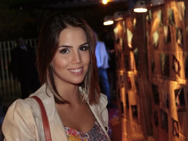 Pérla Faria em evento no Rio (Foto: Isac Luz/ EGO)