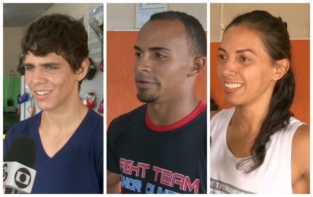 Ítalo Lucas, Taysson Souza, Fabrina Falcão representam Cacoal em evento de MMA em Rondônia (Foto: Globo Esporte)