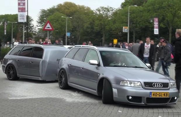 Audi RS4 Avant ganha reboque que imita o próprio carro (Foto: Divulgação)