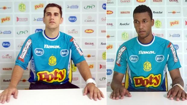Andrezinho e Walter, reforços do Mirassol para o Paulistão (Foto: Vinicius de Paula/Mirassol FC)