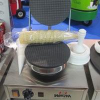 Máquina de fazer casquinha de sorvete (Foto: Gabriela Gasparin/G1)