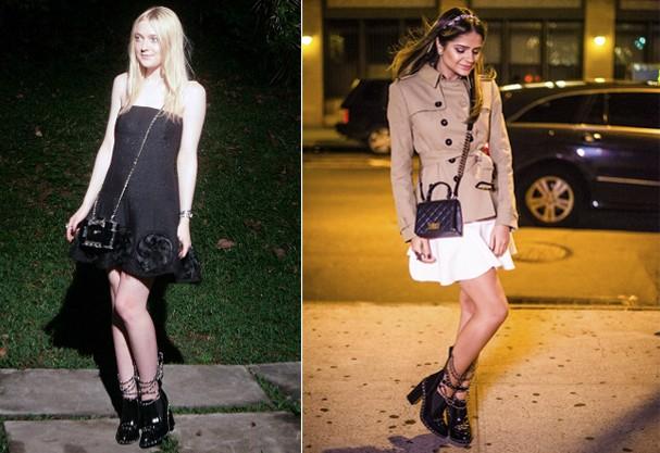 Dakota Fanning e Thássia Neves são outras famosas que tem o acessório no guarda-roupa (Foto: Getty Images/ Reprodução)