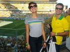 Famosos vão à Arena Corinthians para assistir à estreia do Brasil