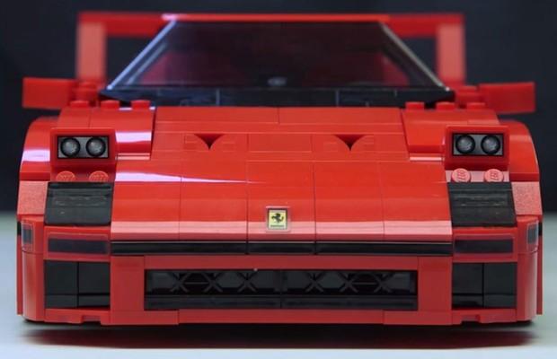Vídeo Lego Cria Réplica Ferrari F40 Auto Esporte Notícias