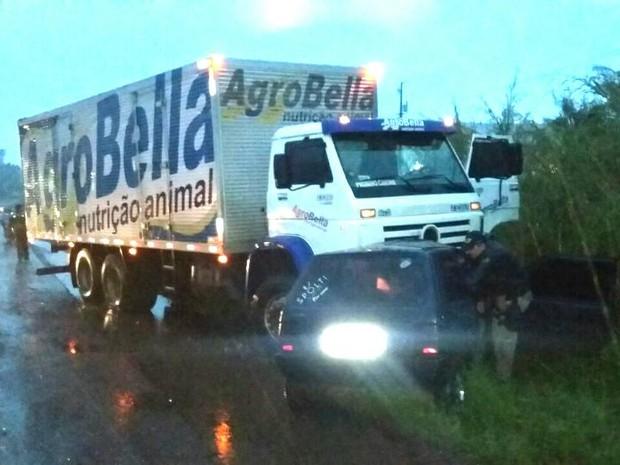 Acidente ocorreu no km 43 da BR-386 (Foto: PRF/Divulgação)