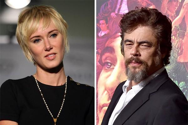 O mundo só ficou sabendo que Kimberly Stewart e Benicio Del Toro estavam juntos quando os dois já tinha se separado. Como isso aconteceu? O caso só veio à tona após o anúncio de que a modelo estava grávida do ator. Delilah nasceu quatro meses depois. (Foto: Getty Images)