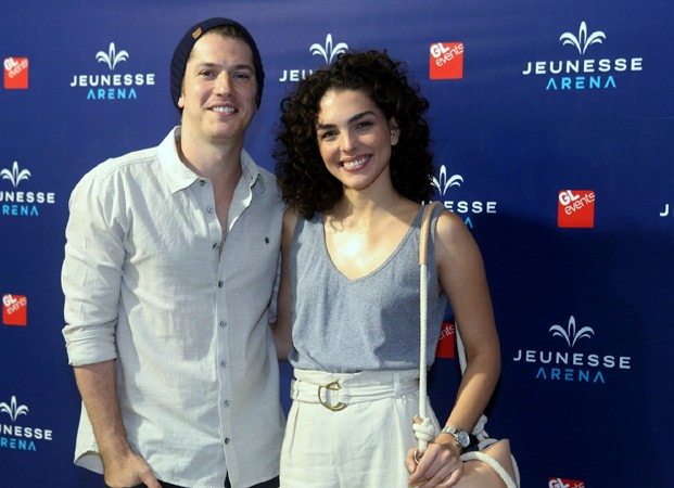 Caio Paduan e Julia Konrad (Foto: Wallace Barbosa/Agnews)