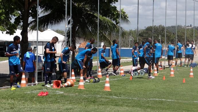CSA, treino físico (Foto: Leonardo Freire/GloboEsporte.com)