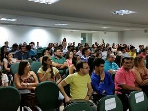 Fórum de acesso à Univasf (Foto: Ronaldo Góis/UES)