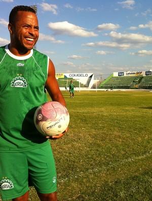 André Neles, atacante do Icasa (Foto: Diego Morais/Globoesporte.com)