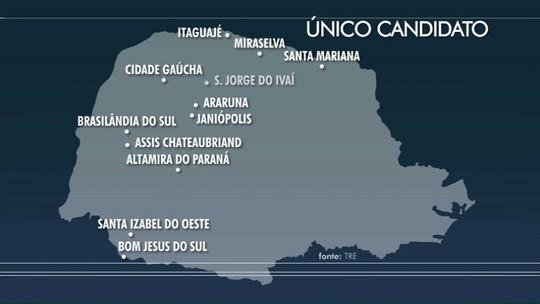 14 cidades do Paraná têm apenas um candidato concorrendo a prefeito