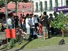 Manifestantes pedem apoio ao MPE para a implantação do passe livre