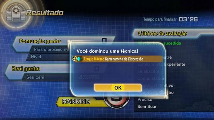 Dragon Ball Xenoverse 2: o novo golpe chega no fim do treinamento (Foto: Reprodução / Thomas Schulze)