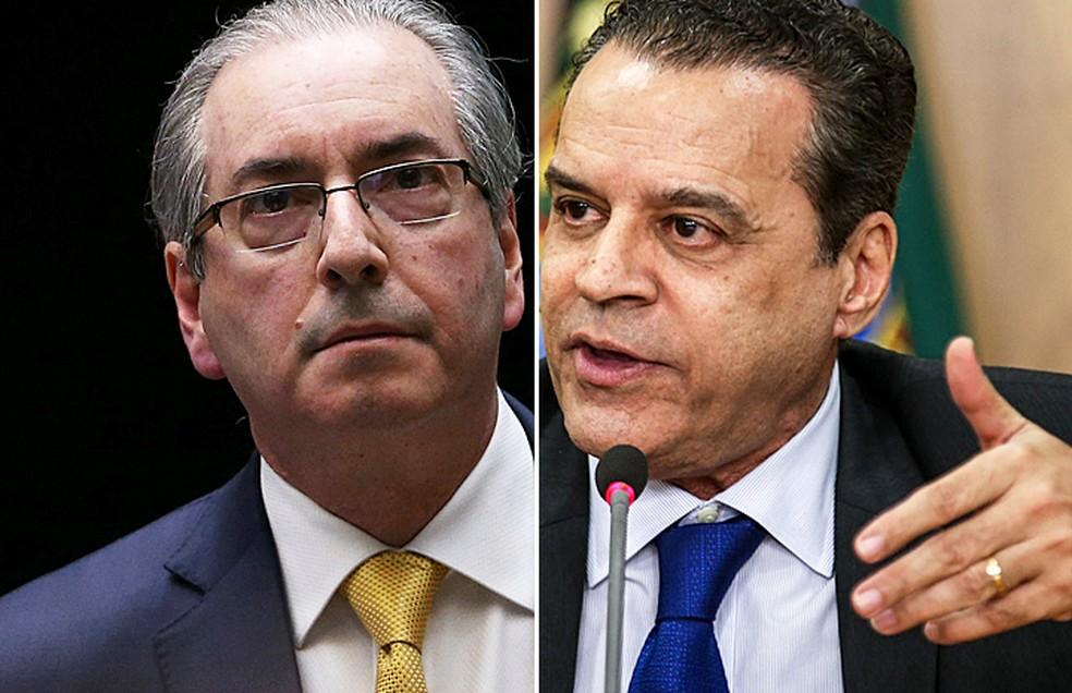 Eduardo Cunha e Henrique Eduardo Alves, alvos de operação que investiga desvios na Arena das Dunas, no RN (Foto: Adriano Machado/Reuters e Fabio Rodrigues Pozzebom/Arquivo Agência Brasil)