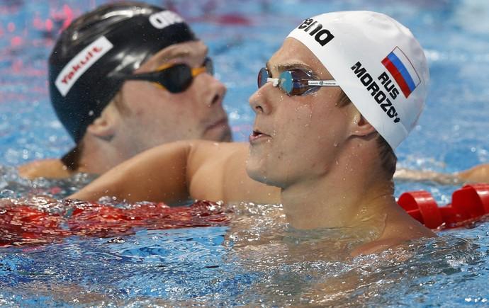 O russo Vladimir Morozov - natação (Foto: Associated Press)