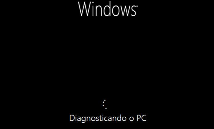 Reparação do Windows 8 em andamento  (Foto: Reprodução/Edivaldo Brito)