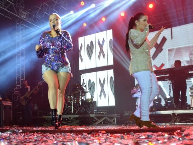 Maiara e Maraisa cantam em Porto Velho (Foto: Jonatas Boni/ G1)