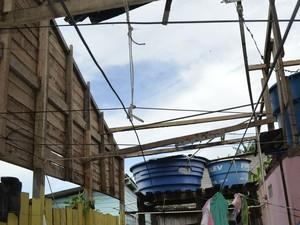 Fenômeno atingiu bairros da Zona Sul da capital (Foto: Dyepeson Martins/G1)