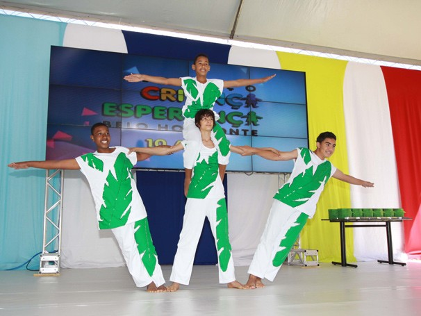 Festa de comemoração dos 10 anos do ECE-BH (Foto: Globo)