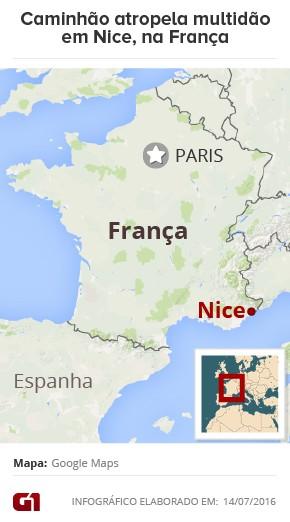 Mapa Nice atropelamento França 2 (Foto: Editoria de Arte/G1)