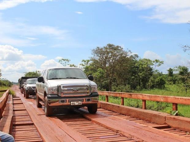 Lideranças indígenas dizem que pedágio vai voltar no Sul do AM (Foto: Larissa Matarésio/G1 AM)