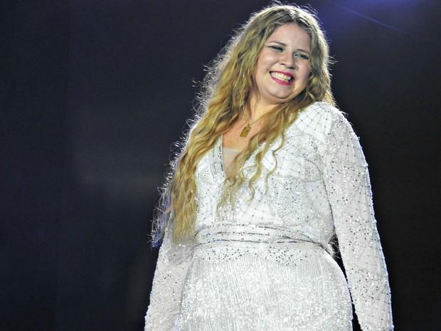 Show de gravação do novo DVD é a segunda apresentação de Marília Mendonça na capital amazonense (Foto: Adneison Severiano/G1 AM)