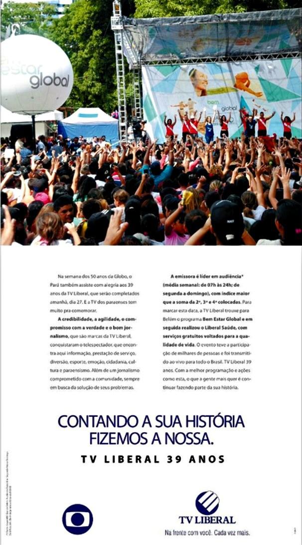 TV Liberal 39 anos  (Foto: Divulgação)