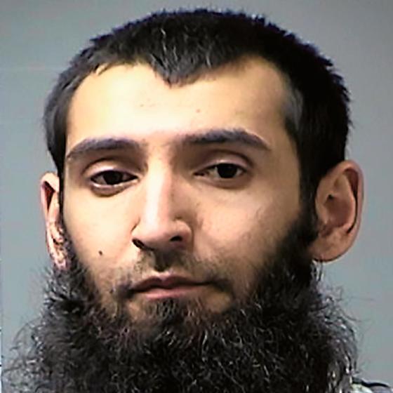 O terrorista Sayfullo Saipov,nascido no Uzbequistão (Foto: AFP)