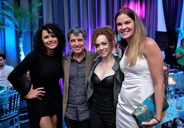 Dadá Coelho, Paulo Betti, Laila Garin e Letícia Birkheuer (Foto: Chris Machado)