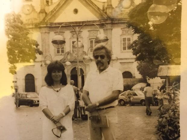 Christina e Paulo em uma visita a Aparecida (Foto: Reprodução)