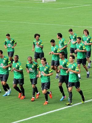 jogadores treino seleção brasileira (Foto: Janir Júnior)