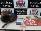 Polícia Civil encontra drogas enterradas em quintal de residência
