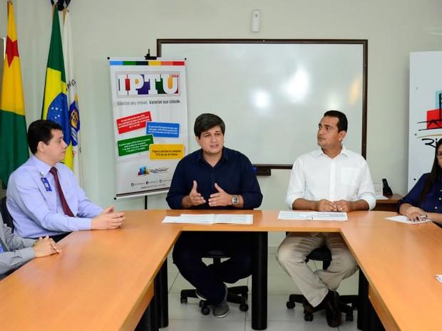 Lançamento do IPTU 2016 foi realizado nesta quinta-feira (10) (Foto: Prefeitura de Rio Branco/Divulgação)