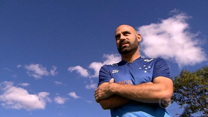 Bruno Rodrigo, zagueiro do Cruzeiro (Foto: REprodução/TV Globo Minas)