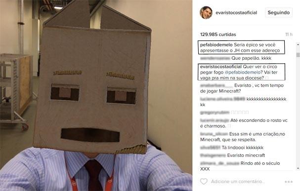 Padre Fabio de Melo trolla Evaristo Costa no Instagram (Foto: Reprodução/Instagram)