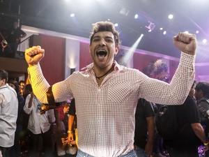 Cézar vence o BBB15 (Foto: Inácio Moraes/Gshow)
