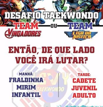 Liga Acreana de Taekwondo realiza desafio Liga da Justiça x Vingadores  (Foto: Levy Azevedo/arquivo pessoal)