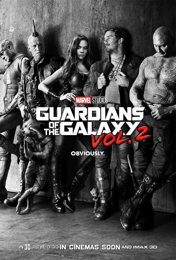 Cartaz de 'Guardiões da Galáxia – Vol. 2'  (Foto: Divulgação)