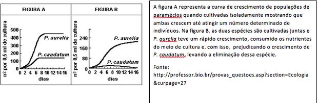 Gráfico com população de paramécios (Foto: Professor.bio.com.br)