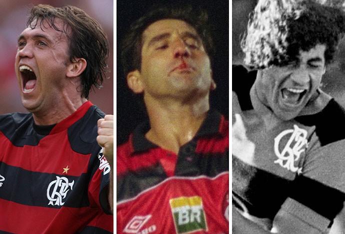 montagem Petkovic, Renato Gaúcho e Nunes, Flamengo (Foto: Montagem sobre foto da Ag. Estado)